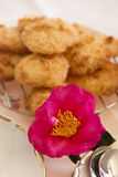 Camellia And Macaroons Royalty Free Stock Photo