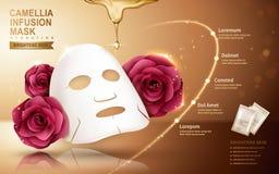 Camellia mask ad Stock Image