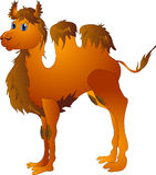 Camello de la historieta Fotografía de archivo