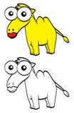 Camello de la historieta Imagenes de archivo