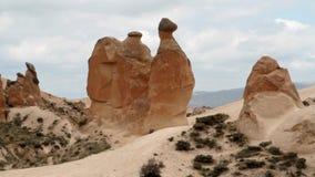 Camello de piedra de la toba volcánica almacen de metraje de vídeo