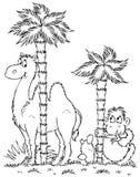 Camello y mono Imágenes de archivo libres de regalías