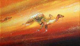 Camellos corrientes durante una tempestad de arena Autor: Nikolay Sivenkov