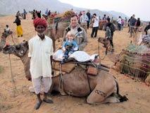 Camelo 01 justos de Pushkar Fotos de Stock Royalty Free