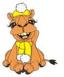 Camelo no chapéu e no lenço ilustração stock