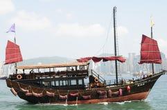 Camelote chinoise dans le port de Victoria à Hong Kong Photographie stock