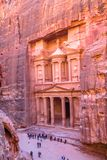 Glorious Petra, the capital of the Nabatean Kingdom. Jordan. Glorious petra capital nabatean kingdom stock photo