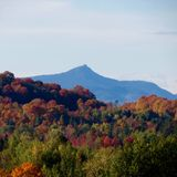Camels Hump Fall Time. In Jonesville Vermont Royalty Free Stock Image