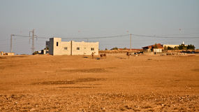 Camels outside Arab Village Stock Images