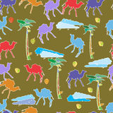 Oasis pattern Royalty Free Stock Photo