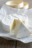 Camembert. On a rustic table Stock Images