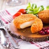 Camembert al forno Fotografia Stock Libera da Diritti