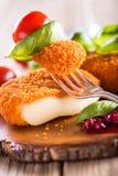 Camembert al forno Fotografia Stock