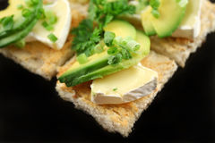 Camembert And Avocado Bites Stock Image