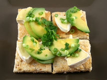 Camembert And Avocado Bites Royalty Free Stock Photography