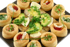 Camembert Bites And Vol Au Vonts Royalty Free Stock Image