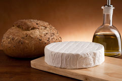 camembert with bread Royalty Free Stock Images