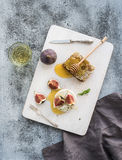 Camembert or brie cheese with fresh figs Royalty Free Stock Image