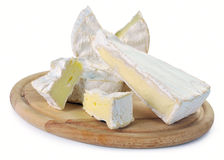 Camembert and brie cheese Royalty Free Stock Photography