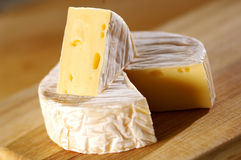 Camembert cheese. Small loaf of Camembert cheese Royalty Free Stock Images