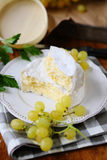 Camembert cheese and grapes Royalty Free Stock Photos