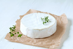 Camembert cheese traditional french gourmet food Stock Photography