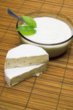 Camembert and cottage cheese Stock Photo