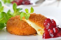 Camembert cotto Fotografia Stock