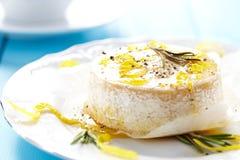 Camembert cozido Fotografia de Stock