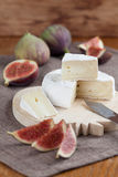 Camembert and figs Royalty Free Stock Photo