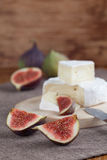 Camembert and figs Stock Photography