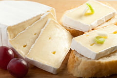 Camembert - mini sandwiches Royalty Free Stock Photo