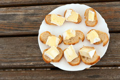 Camembert plate Royalty Free Stock Images
