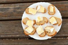 Camembert talerz Obrazy Royalty Free