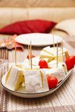 Camembert with tomatoes Royalty Free Stock Image