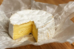 Camembert on a wooden board Stock Image