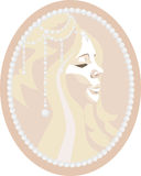 Cameo. Depicting a beautiful girl Stock Photography