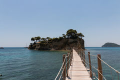 Cameo (Agios Sostis), small island in Zakynthos, Greece Royalty Free Stock Images