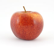 Cameo apple. A single cameo apple on a white background stock photography