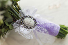 Cameo brooch Royalty Free Stock Photography