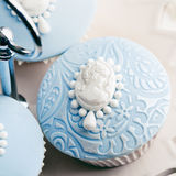 Cameo cupcakes Stock Photo