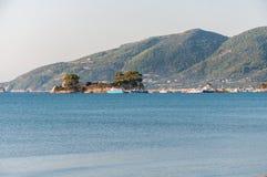 Cameo Island and Agios Sostis port on Zakynthos Stock Photos