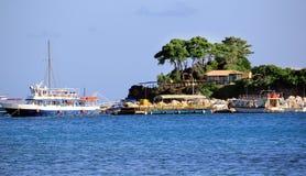 Cameo Island and Agios Sostis port in Zakynthos Royalty Free Stock Photo