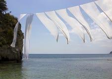 Cameo Island, baie de Laganas, Zakinthos, Grèce Photo stock
