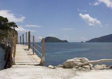 Cameo Island, baie de Laganas, Zakinthos/Zante, Grèce Photos libres de droits