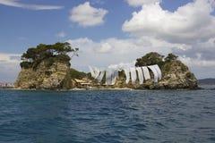 Cameo Island, baie de Laganas, Zakinthos/Zante, Grèce Photo libre de droits