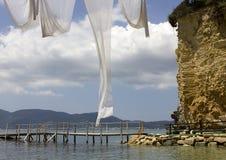 Cameo Island, baie de Laganas, Zante, Grèce Photographie stock libre de droits