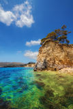 Cameo island beach in Laganas, Zakynthos. Greece stock image