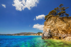 Cameo island beach in Laganas, Zakynthos. Greece royalty free stock photography