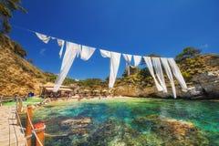 Cameo island beach in Laganas, Zakynthos, 24 June 2015 Royalty Free Stock Image